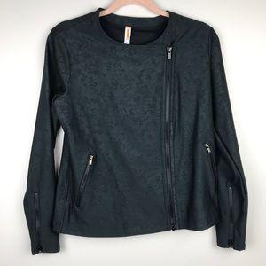 Lucy Activewear Black Moto Jacket Size L